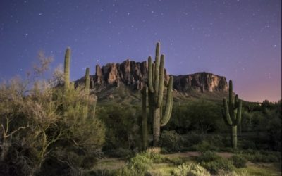 Arizona Superstition Mountains Night