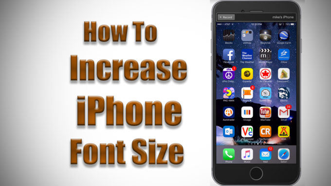how to change font size on iphone x