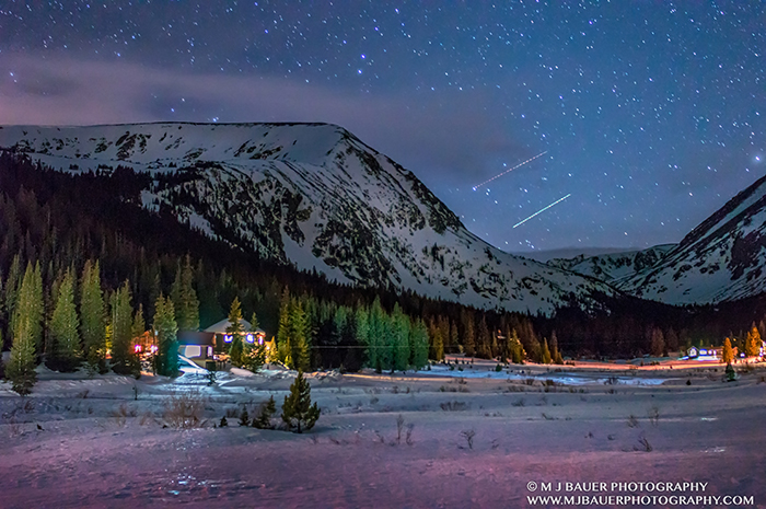Star Lit Sky over Rocky Mountains