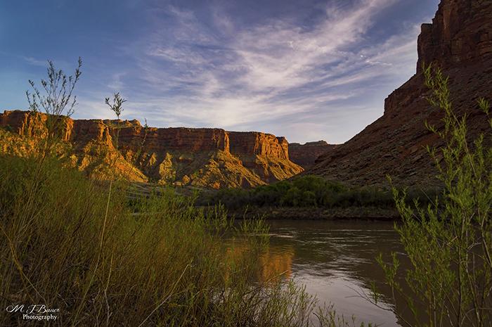 Colorado River Evening Sunset