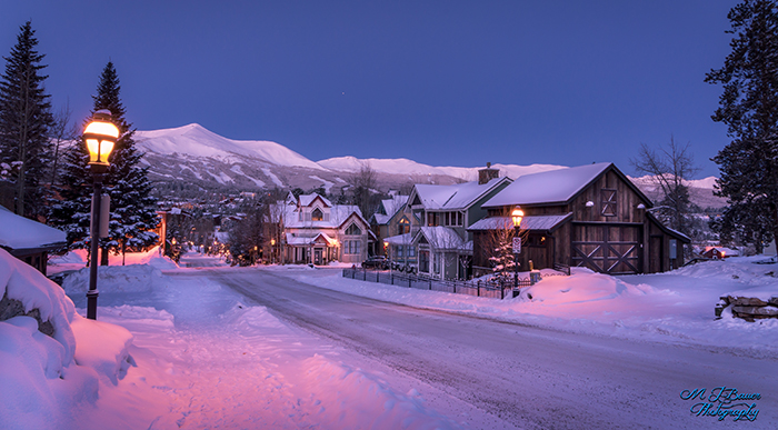 Snow Covered Town